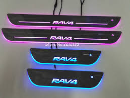 2009 toyota rav4 colors aliexpress com buy free shipping 7 colors led door sill plate