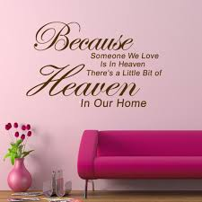 popular becaus buy cheap becaus lots from china becaus suppliers because someone we love is in heaven black pvc removable wall sticker home room decoration art