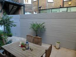 grey closed board fence and privacy screen trellis fulham and