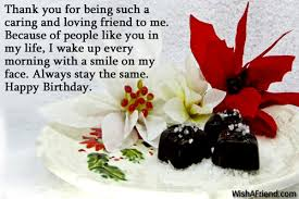 thank you for being such a birthday greetings for friends