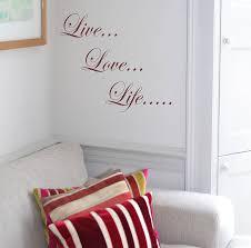 live love life wall sticker by leonora hammond live love life wall sticker