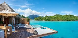 piscine sur pilotis complexe hôtelier conrad bora bora nui polynésie française bora