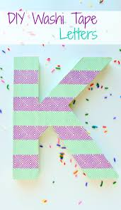 Kids Room Letters by Diy Washi Tape Letters Val Event Gal