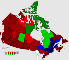 Canada Map Coloured by Language Map Of Canada 1388 X 1214 Mapporn
