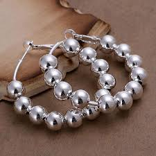 get cheap earrings big silver balls aliexpress
