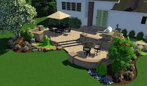 free 3d landscape design software with stone decks floor spacious