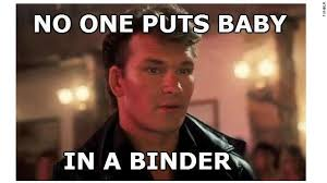 Dirty Dancing Meme - social world thumbs through binders full of women cnn