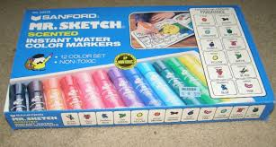 ebluejay vintage sanford mr sketch scented markers set of 12