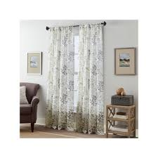 Crushed Voile Sheer Curtains by Fall Foliage Crushed Voile Curtain Multicolor Products