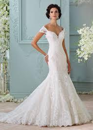 Off The Shoulder Wedding Dresses Off The Shoulder Embroidered Lace Wedding Dress 116201 Aura