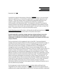new library director cover letter 89 in images of cover letters