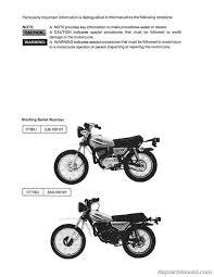 1977 u2013 1983 yamaha dt80 gt80 gtmxe dt100 service manual ebay