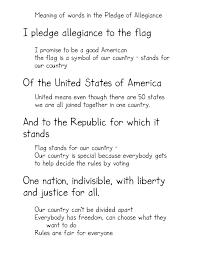Meaning Of American Flag The Pledge Of Allegiance Kindergarten Nana