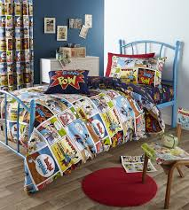 comic strip kids childrens boys geek super hero bedding duvet