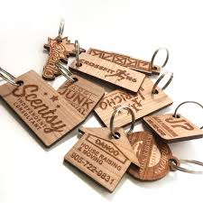 personalized wooden keychains custom wood keychains wooden rectangle key ring handmade label