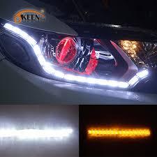 led daylight strip light okeen 12v led headlight drl led knight rider strip light with