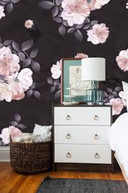 best 25 removable wall murals ideas on pinterest removable wall roses flower watercolor dark self adhesive wallpaper removable wall mural black floral prints