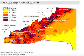 New York State Fall Foliage Map by This Map Shows When And Where To View Fall Colors In North Carolina