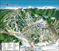 Colorado Mountain Map by Beaver Creek Resort Colorado Ski Areas