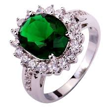 green fashion rings images Lingmei 2017 new fashion design green silver color ring size 6 7 8 jpg