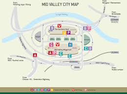 Gardens Mall Map Mv City Map Mid Valley Megamall
