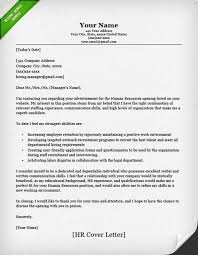 cover letter to hr department sample cover letter email human