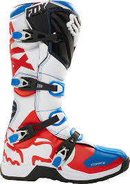 blue dirt bike boots fox racing comp 5 fiend se boots mx atv motocross off road dirt
