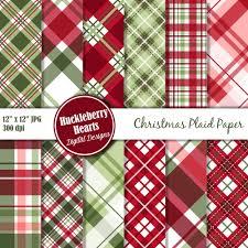 christmas plaid wrapping paper christmas plaid digital paper christmas papers digital plaid