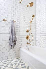 Gold Bathroom Fixtures Gold Fixtures And Patterned Tile Decorate Pinterest Gold