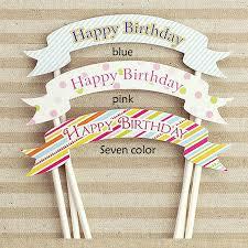 Birthday Cake Toppers Aliexpress Com Buy 1pcs Style Creative Happy Birthday Diy