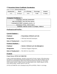 Resume 10 Years Experience Sample by Download Android Developer Resume Haadyaooverbayresort Com