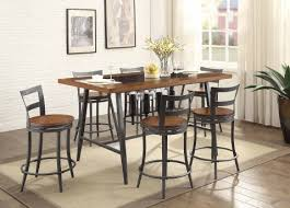 Dining Room Sets Dallas by Selbyville 7pc Cherry Gunmetal Counter Height Dining Room Set