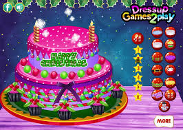 New Year Cake Decoration Games creamy christmas cake decor cooking games