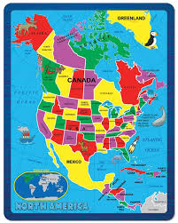 North America Continent Map by Amazon Com Continent Puzzle North America 55 Piece Toys U0026 Games