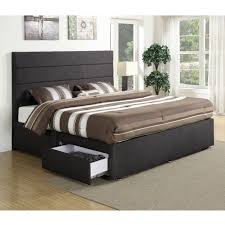 Upholstered Headboard Bed Frame Upholstered Headboard With Drawers Drawer Furniture