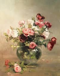 Eva Vase Vase With Roses Painting By Eva Gonzales