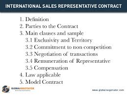 international sales representative contract contract template and s u2026