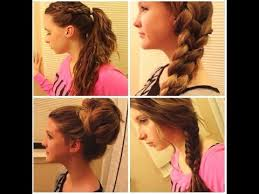 quick and easy hairstyles for running running late 4 quick easy hair styles youtube