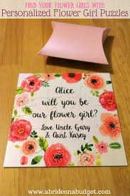 will you be my flower girl gift personalized flower girl puzzles and an easy diy a on a