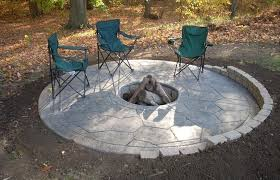 Concrete Fire Pit by 28 Concrete Patio Designs With Fire Pit Stamped Concrete
