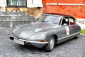 vintage citroen ds moscow russia june 3 french motor car citroen ds competes