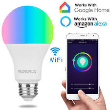 alexa controlled light bulbs wifi smart multi color led light bulb for amazon alexa google home