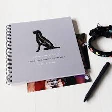 dog photo album personalised dog keepsake album 12 breeds by designed