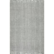 7 jute rug nuloom chunky loop jute grey 5 ft x 7 ft 6 in area rug nccl01g