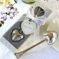 tea favors coffee wedding favors coffee scoops heart tea infuser favor