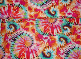 tie dye fabric 60 u0027s hippie fabric sewing supplies quilting