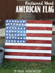 american flag pallet i used valspar spray paint and valspar clear