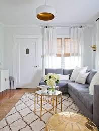 making the most of a small space with a sectional couch and a