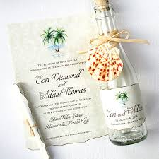 palm tree wedding invitations wedding invitations florida palm tree glass bottles