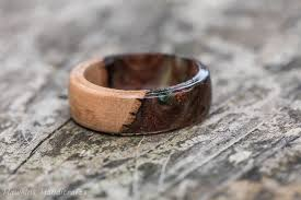 fusion wedding band camo acrylic and wood fusion ring